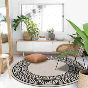 Round  Rugs And Carpets For Home  Black And White Geometric