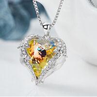 Valentine's Special Love Heart Rainbow Mystic Topaz 925 Silver Necklace Pendants