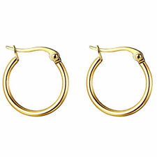 2Pcs Silver Hoop Earrings for Women Girl Small Gold Stainless Steel Huggie Ear
