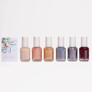 essie Celebration Love Moments Collection, 6 Piece Nail Polish Gift Set with Car