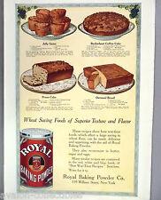 Royal Baking Powder PRINT AD - 1918 ~Prune, Buckwheat Coffee,Oatmeal Cake recipe