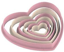 Cutter 6 stampi pasticceria forma di cuore facili da pulire torta biscotti