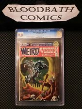 Weird Western Tales #12. Famous Skull Cover 9.0 CGC. Amazing Comic Book.