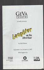 Laughter on the 23rd Floor 1995 Geva Theatre Program Colleen Quinn
