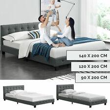 Polsterbett Einzelbett Bett Jugendbett Gästebett Stoff Lattenrost ArtLife®