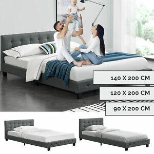 Polsterbett Einzelbett Bett Jugendbett Gästebett Stoff Lattenrost Juskys®