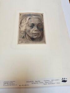 Kathe Kollwitz Etching Lithograph Restrike Ferdinand Roten Gallery Self Portrait