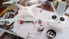 DJI PHANTOM 4 QUAD COPTER BODY ONLY DAMAGED CAMERA AND REMOTE CHARGING PROBLEM