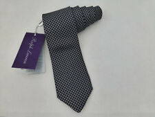 Polo Ralph Lauren Long Tie Pc6n Italian Made Black Paisley Silk Ties RP