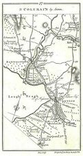 Antique map, Road from Banbridge to Colerain (2)