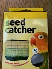 Seed Catcher Guard Mesh Bird Cage Cover Shell Skirt traps cage debris Small