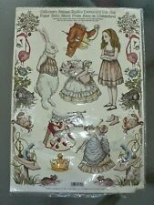 Shackman Antique Replica Embossed Cut Out Paper Dolls Alice In Wonderland H.K.