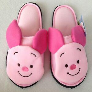 AUTHENTIC Disney Winnie The Pooh Piglet Plush Slippers Shoes Sandal US 5-9