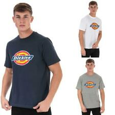 Mens Dickies Horseshoe Crew Neck Cotton Blend T-Shirt in Grey, Blue, and White