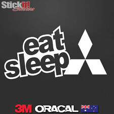 Eat Sleep Ralliart Mitsubishi EVO Lancer Vinyl JDM Drift Sticker