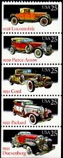 1988 25c Classic Cars, Booklet Pane of 5 Scott 2381-85 Mint F/VF NH