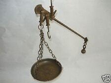 Bilancia decorativa stadera strumento di calcolo in ottone brunito mis.grande
