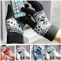 Knitted TouchScreen Gloves Soft Winter Men Women Texting Active For Smart Phone