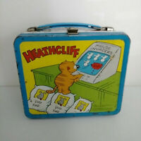 Vintage Heathcliff The Cat Retro Metal Lunch Box 1982 Aladdin Ind