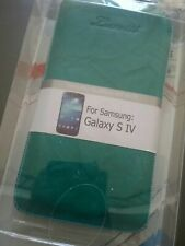 Luvvitt Galaxy S IV Leather Pouch for Galaxy S4 (Turquoise)