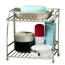 2 Tier Stainless Steel Shelf Table Storage Basket Mini Rack Kitchen Organiser