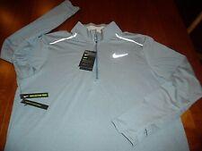 Nike XL 1/2 Zip Run Element 3.0 DriFit Reflective Blue/Gray Blend Standard Fit