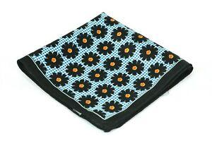 Lord R Colton Masterworks Pocket Square - Black & Blue Silk - $75 Retail New
