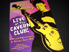 PAUL McCARTNEY Live At The Cavern Club 2001 Promo Display Advt mint condition