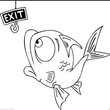 Fishing Fish Hook Exit Funny Car Boat Decal Vinyl Sticker