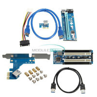 PCI-E Express X1 to Dual PCI Riser Extend Adapter Card USB 3.0 PCI-E 1x to 16x