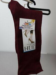 Ladies Hue red ruffled luster one size ankle high socks - NIP
