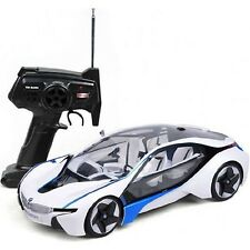 BMW I8 Vision w/Lights&Rechargeable Batteries Vehicle 1:14 Scale Licensed White