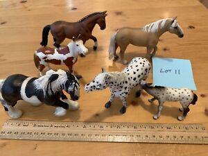 Lot of 6 Schleich Toy Horse REALISTIC VINYL Pony Figures Figurines BIN#11