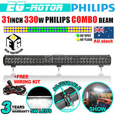 32Inch 330W  LED Work Light Bar Flood Spot Combo Lamp DRL Offroad Seckil 4WD 30""