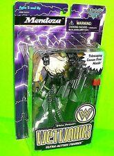 Vtg Wetworks MENDOZA Action Figure McFarlane Toys Bio Clip Trading Card MISSILE