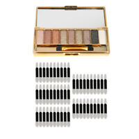 Waterproof Glitter Eyeshadow Palette Kit & 50 Eye Shadow Brushes Applicators