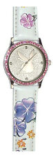 Playboy Damen Uhr weiß Blumenarmband NEU