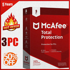 McAfee Total Protection 2020 3 Devices 5 Years Ínstant dєlivery Genuine License