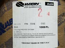 Quabbin 7316 22/1P Shielded Audio/Microphone/Communication Cable Black /100ft