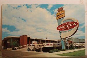 Utah UT Salt Lake City Little American Motel Business District Postcard Old View