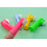 Super Soft Pet Finger Toothbrush Dog Cat Brush Addition Bad Breath Tartar EB