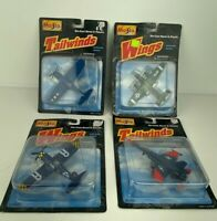 Lot of 4 Planes Maisto Model Die-cast Sealed toys Military Vintage