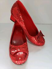 Ellie Shoes Dorothy Ruby Red Sleepers heel Sequins Size 7 Costume WIZARD OF OZ