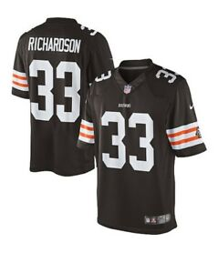 💯% Genuine NFL New Trent Richardson Cleveland Browns Nike Game Jersey S-Brown