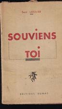 Souviens Toi Emile Larguier 1947 World War I & II Memories