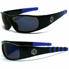 Choppers Bikers Mens Sunglasses - Black/ Blue Fire Iridum C45