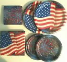 American Flag PATRIOTIC July 4th Party Supply Kit w/ Plates, Napkins & Balloons