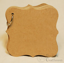 """Bare Chipboard 4-1/4"""" Mini Bracket Frame Album 10 pages w/ ring"""