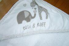Elli & Raff Baby  Hooded Bath Towel/ Robe/Cuddle.  100% Cotton.