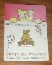 BBC Children in Need PIN BADGE - Pudsey Bear on Blocks (1986) Appeal '97 charity